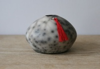Naked raku fired urchin